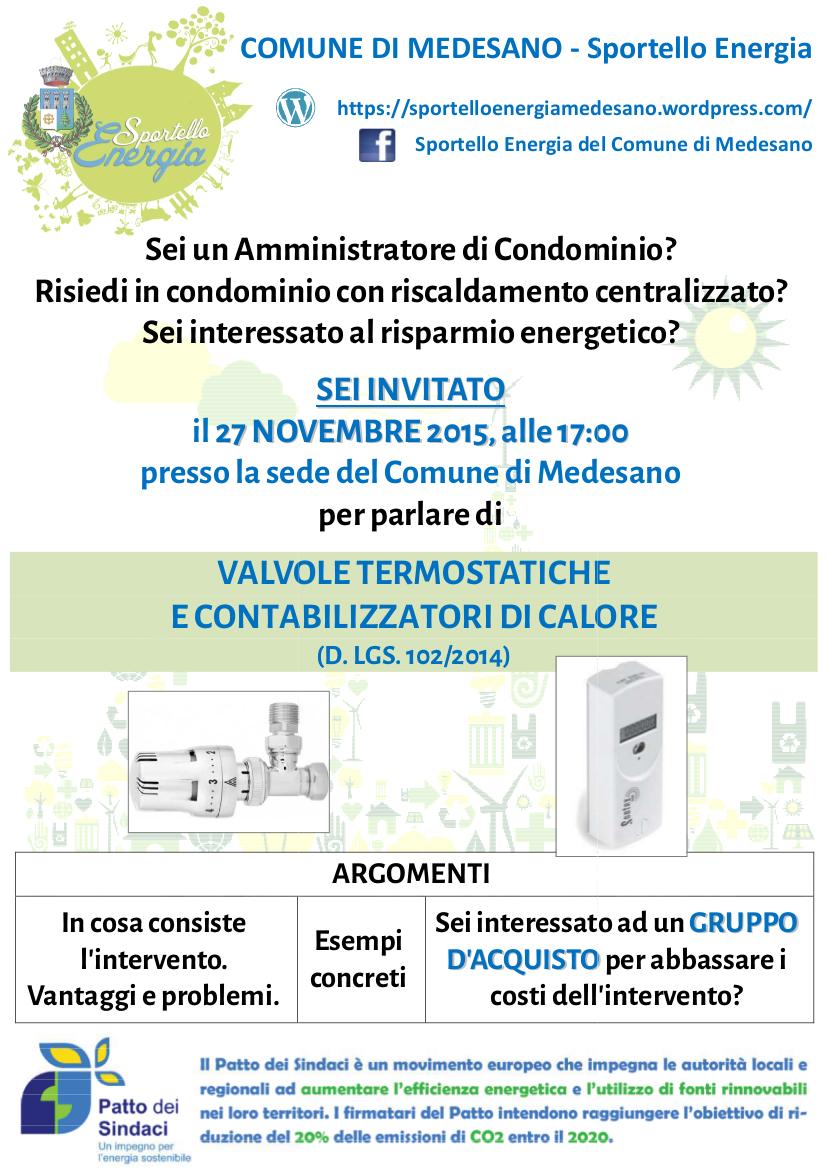 Sportello Energia_Incontro 27 novembre
