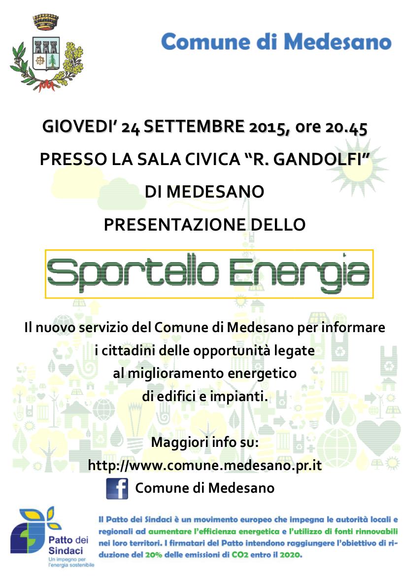 Medesano_Sportello Energia_manifesto