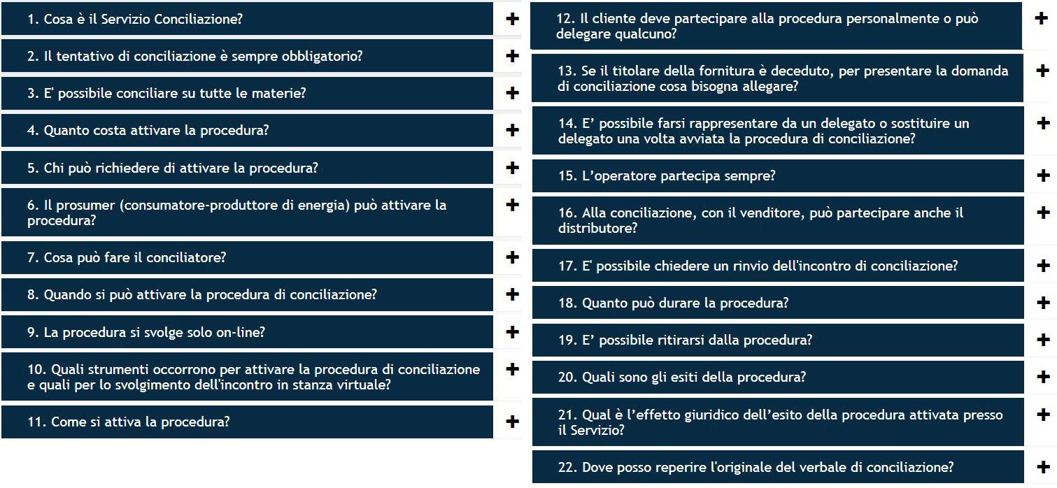 FAQ conciliazione
