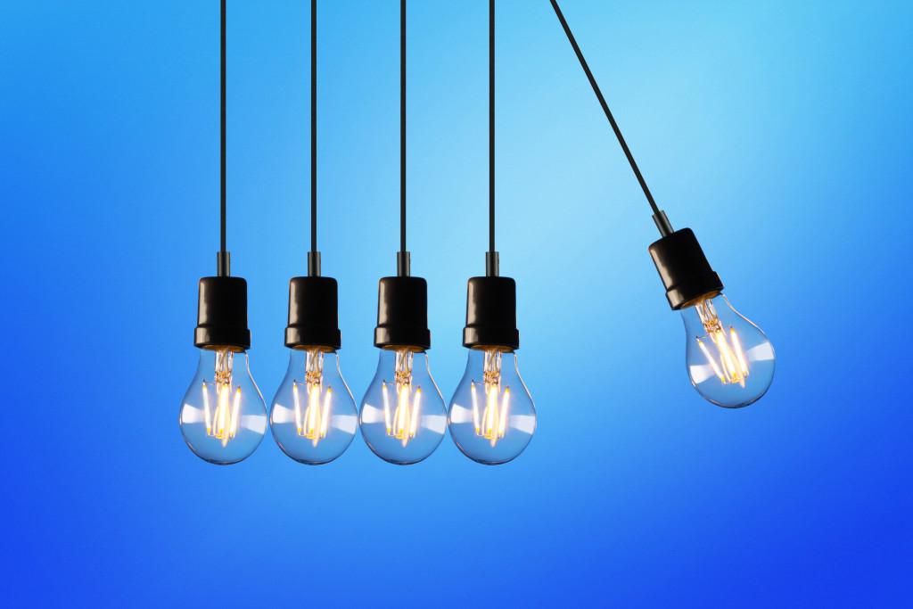 Canva - Five Bulb Lights